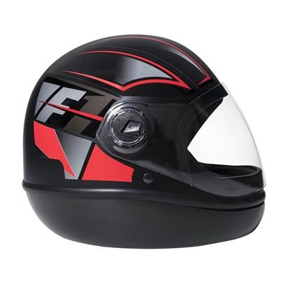 Capacete Fórmula 1 Neo Preto Fosco Vermelho