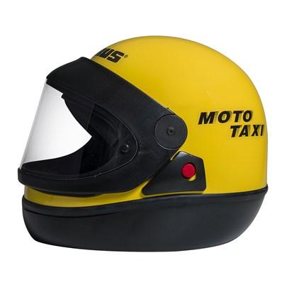 Capacete San Marino Moto Taxi Amarelo