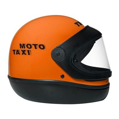 Capacete San Marino Moto Taxi Laranja