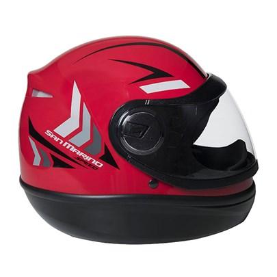 Capacete San Marino Speed One Vermelho Preto