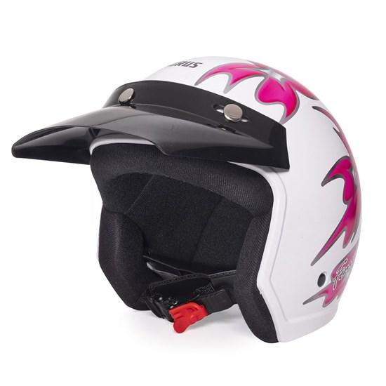 Capacete Wind Femme Branco Pink