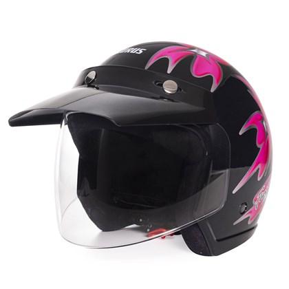 Capacete Wind Femme Preto Pink