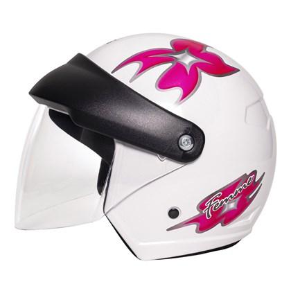 Capacete Wind Visor Femme Branco Pink