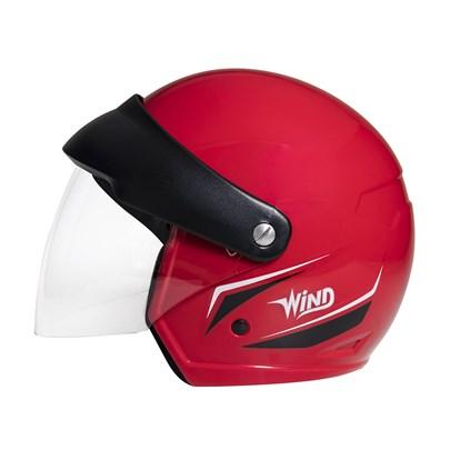 Capacete Wind Visor Tecno Vermelho Preto