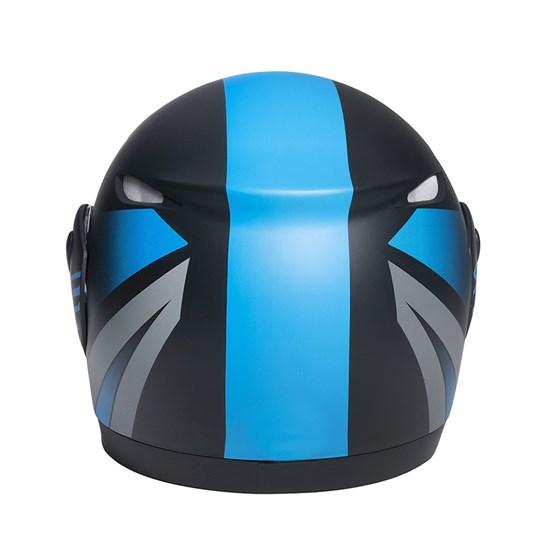 Capacete Zarref Neon Preto Fosco Azul