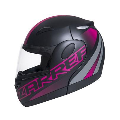 Capacete Zarref Neon Preto Fosco Rosa