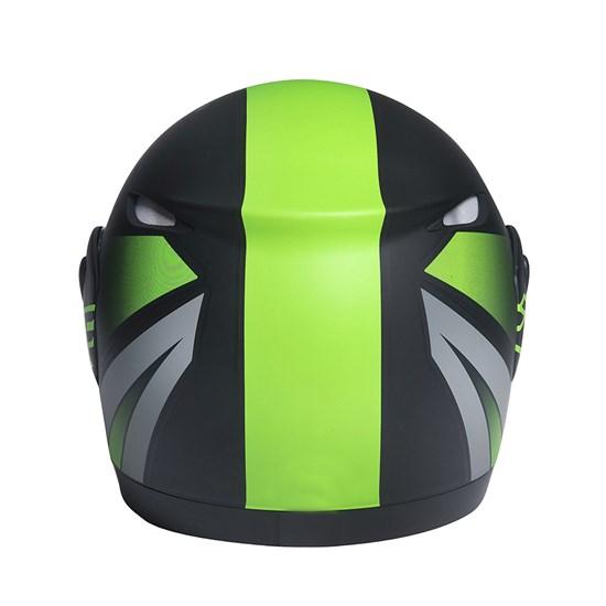 Capacete Zarref Neon Preto Fosco Verde